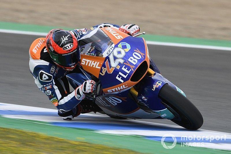 Augusto Fernández se estrena en la pole de Moto2