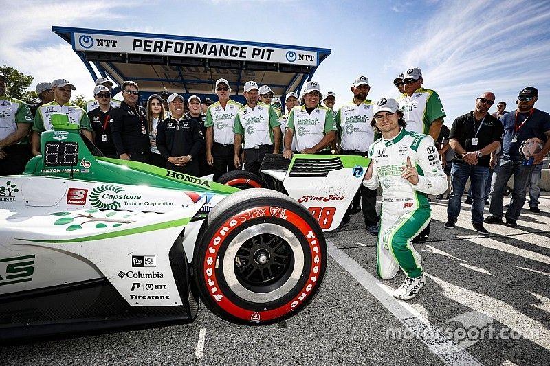 Herta supera Rossi y obtiene su primera pole en Indycar