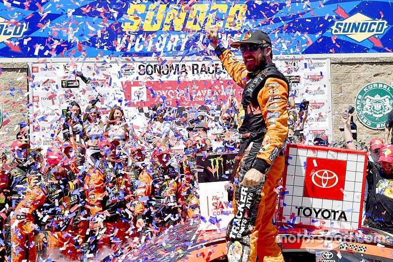 Martin Truex Jr. fends off teammate Kyle Busch for Sonoma victory