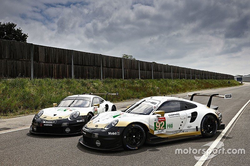 Porsche celebrates WEC title with gold Le Mans liveries
