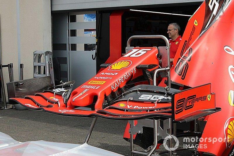 Ferrari introduce un nuevo alerón delantero para el GP de Francia