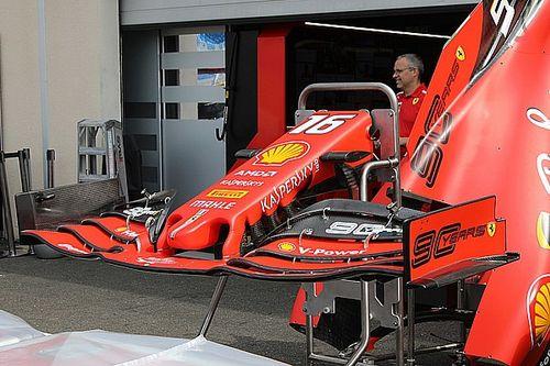 Un nouvel aileron avant pour les Ferrari en France