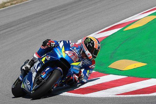 Rins lidera la mañana de test de MotoGP en Barcelona