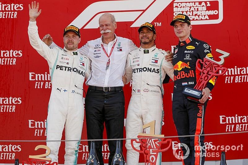 西班牙大奖赛:汉密尔顿领导梅赛德斯连续第五场前二名完赛