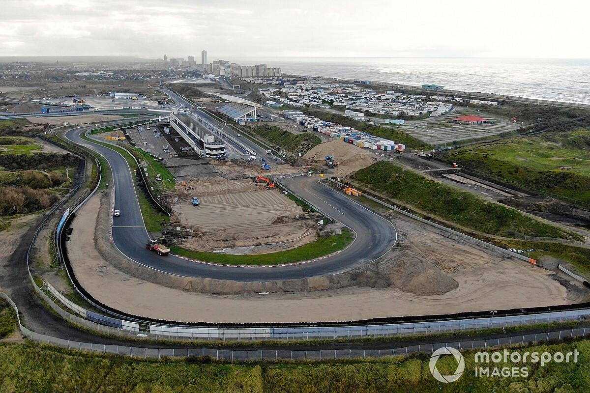 Drónfelvételen az átalakítás alatt álló holland F1-es pálya