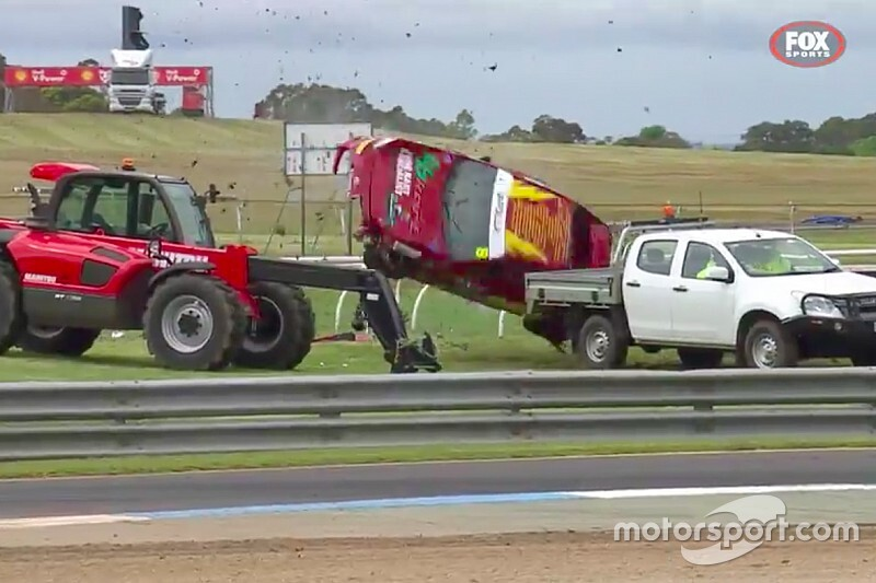Driver uninjured in wild Sandown Toyota crash