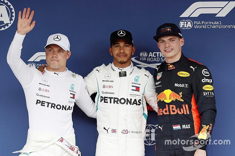 Hamilton pakt tachtigste pole in enerverende kwalificatie, Verstappen fraai op P3