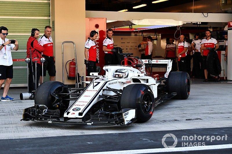 Raikkonen completes first Sauber laps in Abu Dhabi test