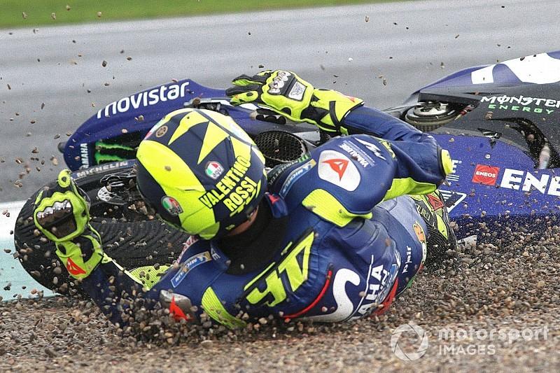 """Gemengde gevoelens bij Rossi: """"Heerlijk om voor zege te rijden, de crash was klote"""""""