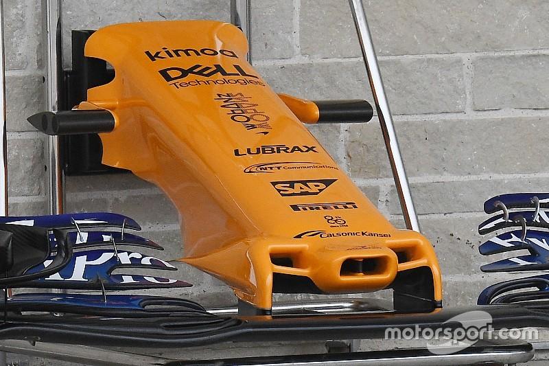 """USA GP: eltűntek a hosszúkás """"fogantyúk"""" a McLaren orrkúpjáról"""