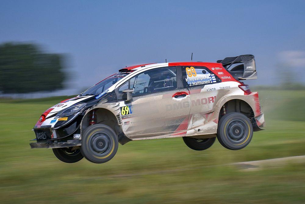 WRC Estonya: Rovanpera sabah bölümünde lider, Tanak sorun yaşadı