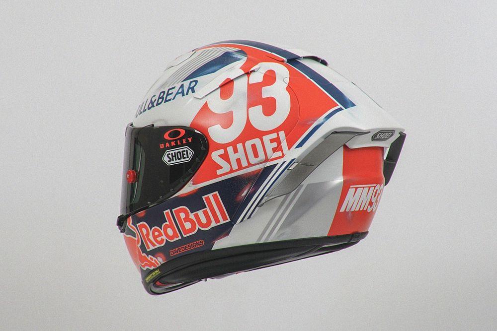 Balapan di Sachsenring, Marquez Pakai Helm Retro