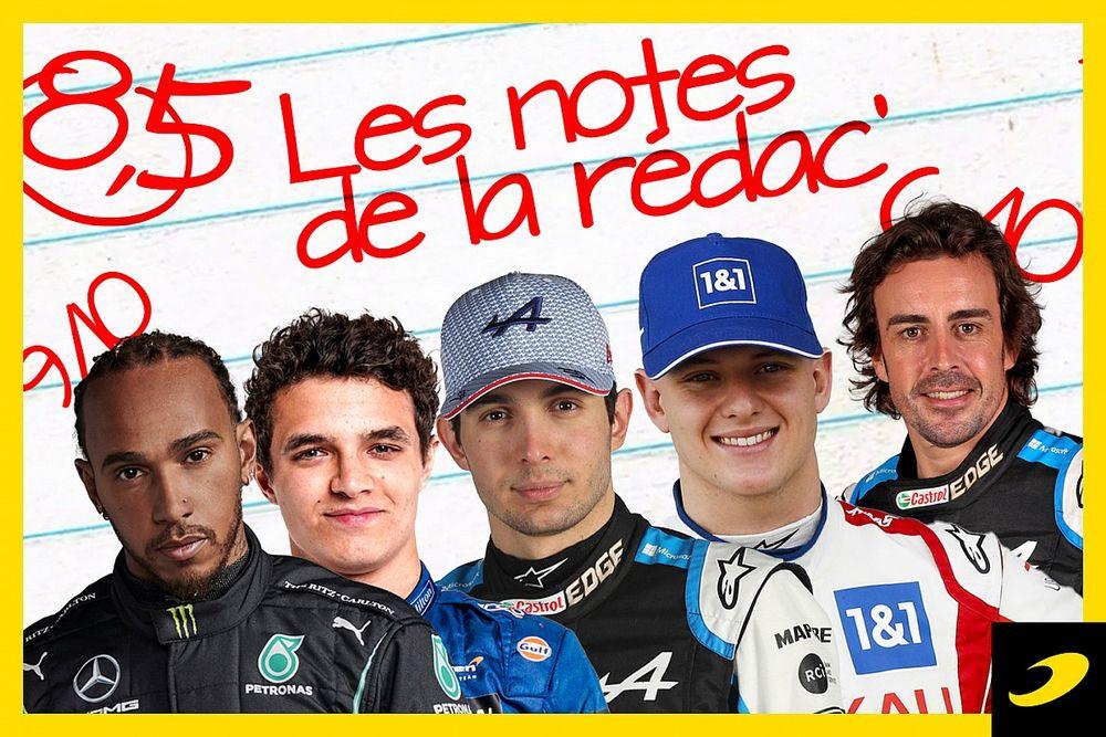Les notes du Grand Prix d'Autriche 2021