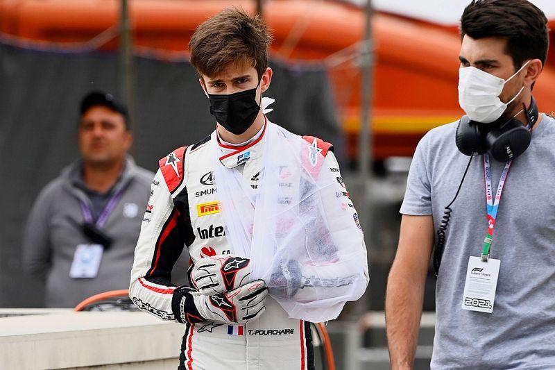 F2-races Silverstone onzeker voor Pourchaire door gebroken arm