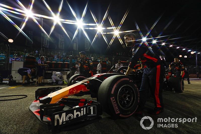 Red-Bull-Mechaniker mit Föhn auf dem Grid: Whiting klärt auf