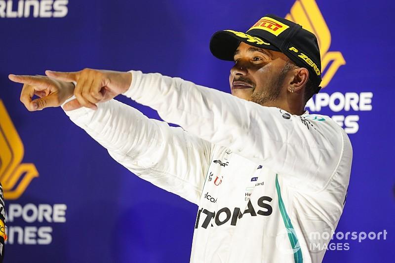 ハミルトン、シンガポール完勝も慢心なし「全て勝つつもりで戦う」