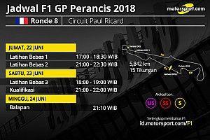 Jadwal lengkap F1 GP Perancis 2018
