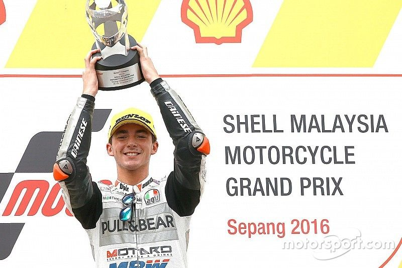 """Bagnaia hails """"best race"""" of life after Sepang Moto3 win"""
