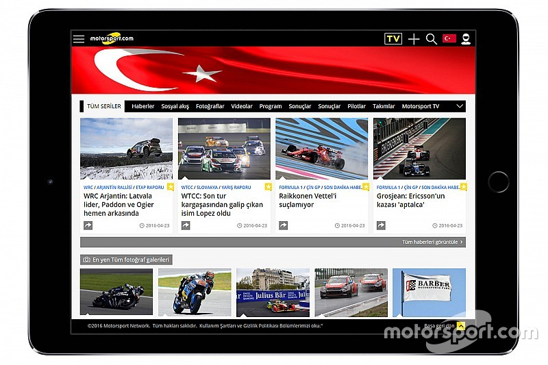 Motorsport.com Acquires Award-Winning Turkish Auto Racing Website TurkiyeF1.com