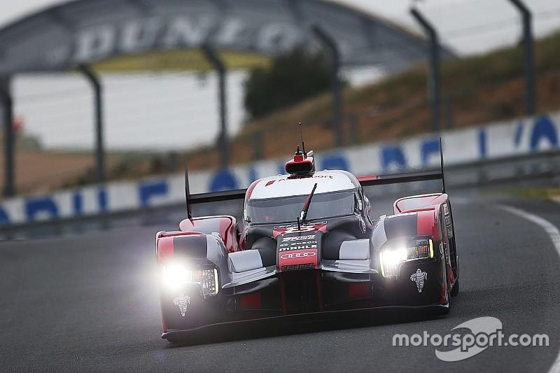 Audi ends incident-filled Le Mans test day on top