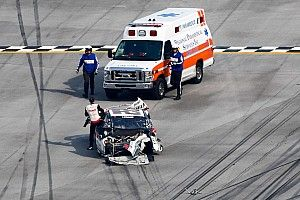 "Logano walks away from crash: Sadler knew ""what he had to do to win"""
