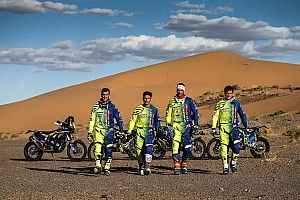 Merzouga rally: Top 10 start for Sherco TVS, Santosh 27th