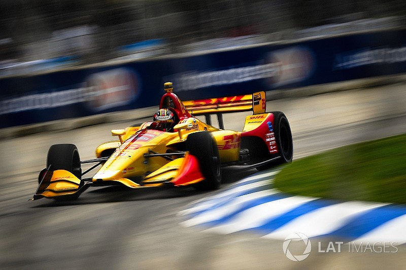 Detroit IndyCar: Hunter-Reay wins Race 2 after Rossi error