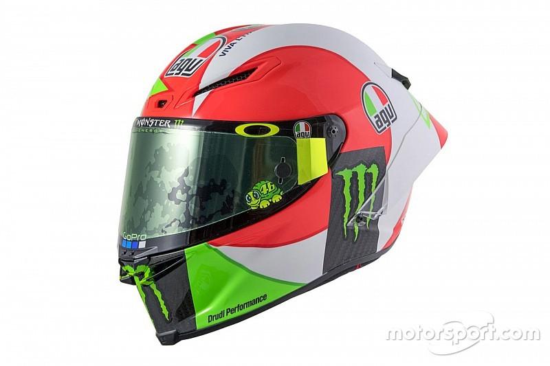 Fotogallery: il casco tricolore di Rossi per il GP d'Italia 2018 al Mugello