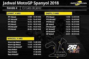 Jadwal lengkap MotoGP Spanyol 2018