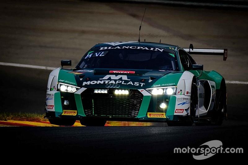 24 Ore di Spa, 6° Ora: l'Audi R8 di Kevin e Shaun van der Linde e di Schmidt passa al comando