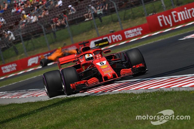 Vettel les ganó el viernes a los Red Bull en Hungría