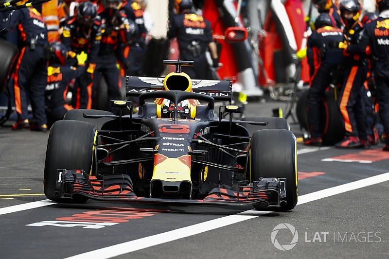 In Bildern: Wie Ricciardos Frontflügel auseinander fiel