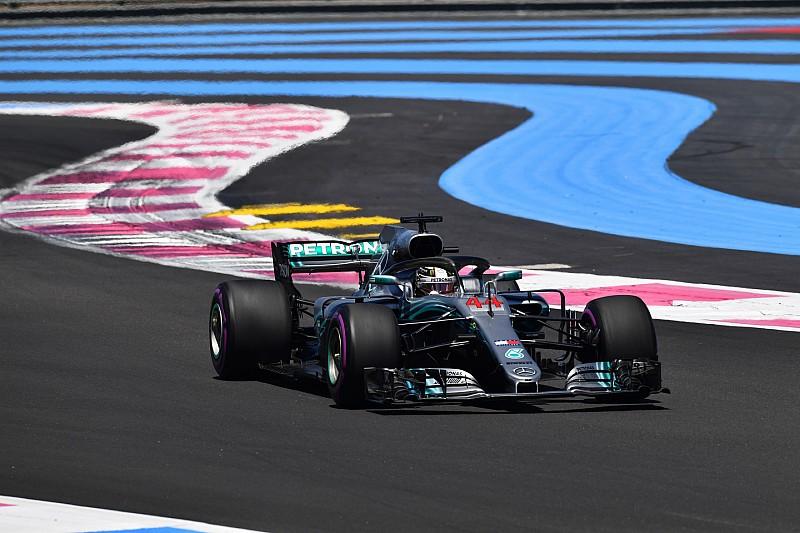法国大奖赛FP1:汉密尔顿获新引擎后全场最快