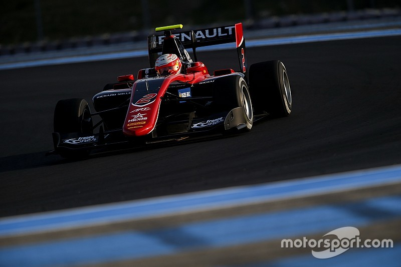 Hubert topt tweede dag van GP3-test Paul Ricard