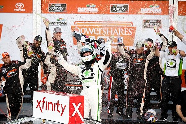 NASCAR XFINITY Race report Reddick wins Xfinity Daytona opener after five overtime restarts