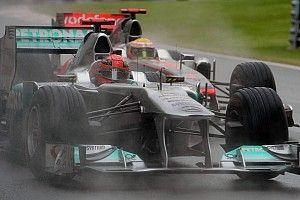 Schumacher MEGA előzése az esős Kanadai Nagydíjról: szenzációs onboardok érkeztek