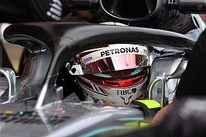 """Hamilton: """"Con el Halo ya no tiene sentido pintar el casco"""""""