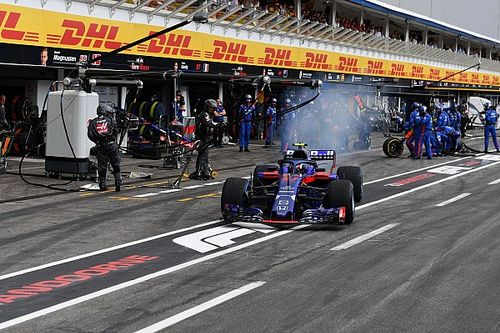"Gasly ""didn't expect"" Toro Rosso's wet tyre call"