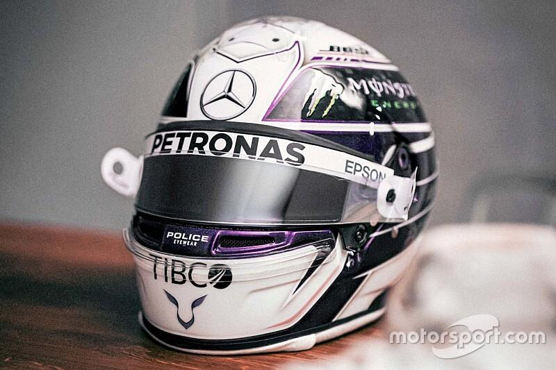 Hamilton apresenta capacete para 2020