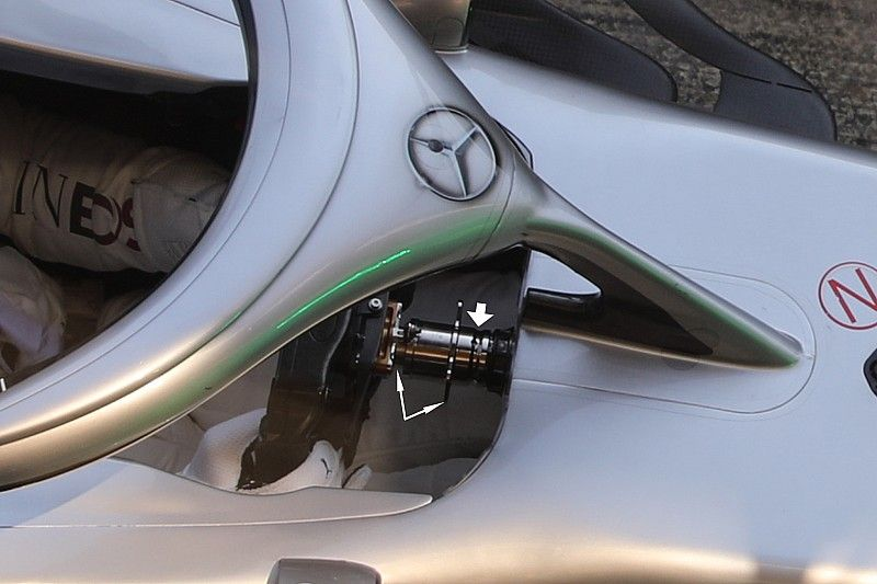 Mercedes explica su intrigante sistema, que considera legal