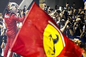 """F1シンガポールGP決勝:ベッテル、""""復活""""の今季初V! フェルスタッペン3位表彰台"""