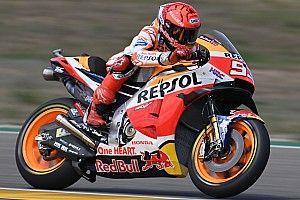Marquez verklaart boosheid na crash in tweede training Aragon
