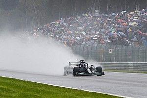 Belgian GP under red flag following safety car start in heavy rain