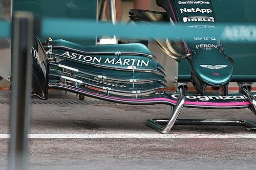 Aston Martin: c'è uno spigolo sul flap dell'ala anteriore