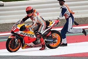 """Márquez: """"Prefiero una carrera como esta y acabar mal, que ganar con lluvia"""""""