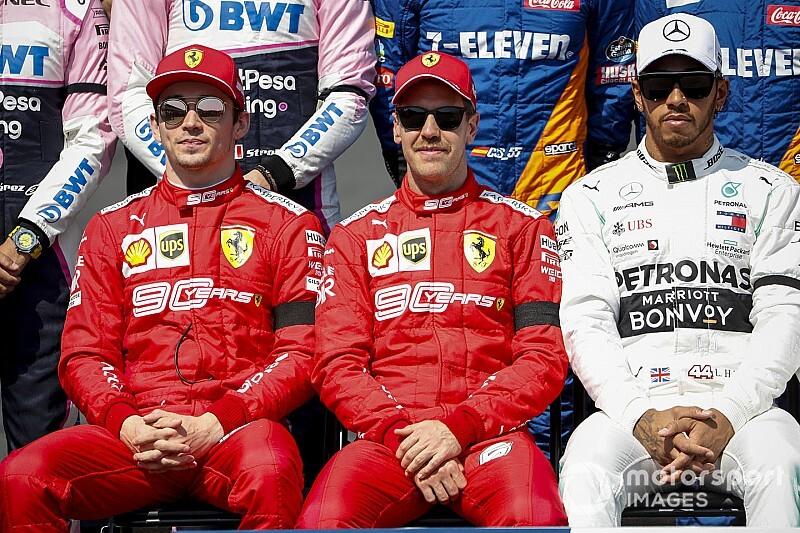 Ferrari se contradiz e pede para Leclerc tirar pé para não passar Vettel