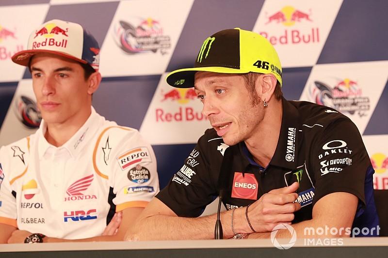 """Handshake mit Marquez: Für Valentino Rossi """"der richtige Moment"""""""
