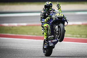 """Rossi diz ter ficado """"animado"""" ao ver queda de Márquez em Austin"""