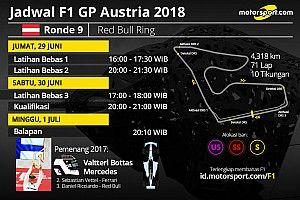 Jadwal lengkap F1 GP Austria 2018