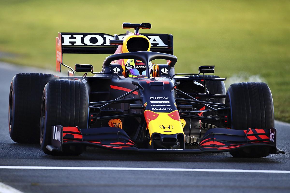 Perez tevreden na eerste testdag met Red Bull Racing op Silverstone - Motorsport.com Nederlands